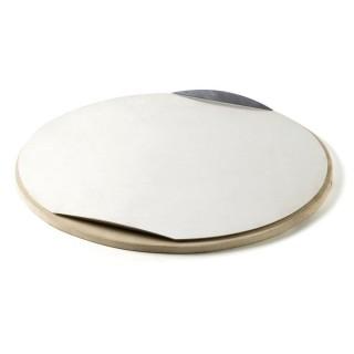 Weber Pizzastein rund Ø 26 cm mit Alublech für Holzkohlegrills und Gasgrills