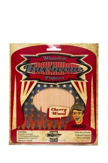 Axtschlag Grillpapier Wood Papers Cherry Wood, Kirschholz,190x150  8 Stück