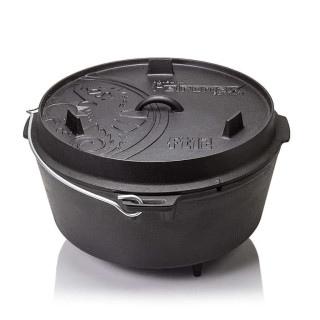Petromax ft12 Dutch Oven Guss Feuertopf mit Standfüßen
