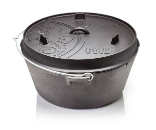 Petromax ft18-t Dutch Oven Guss Feuertopf mit planen Boden
