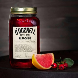 O`Donnell Moonshine Bitter Rose im Mason Jars (700ml, 25%vol.)