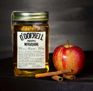 O`Donnell Moonshine Bratapfel im Mason Jars (350ml, 20%vol.)